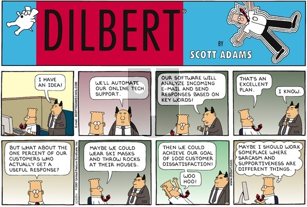 Dilbert on Sunday February 25, 2001 Comic Strip