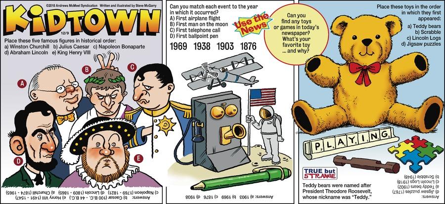 KidTown Comic Strip for December 09, 2018