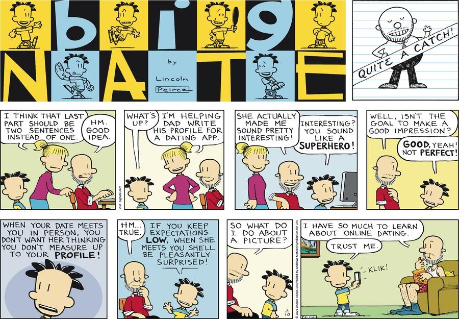 Big Nate Comic Strip for January 10, 2021