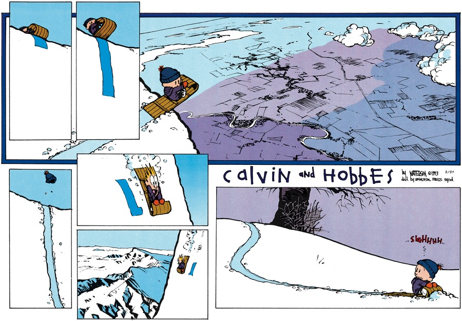 Calvin and Hobbes Comic Strip for February 24, 2013