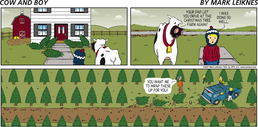 Cow and Boy Classics Comic Strip for December 09, 2007