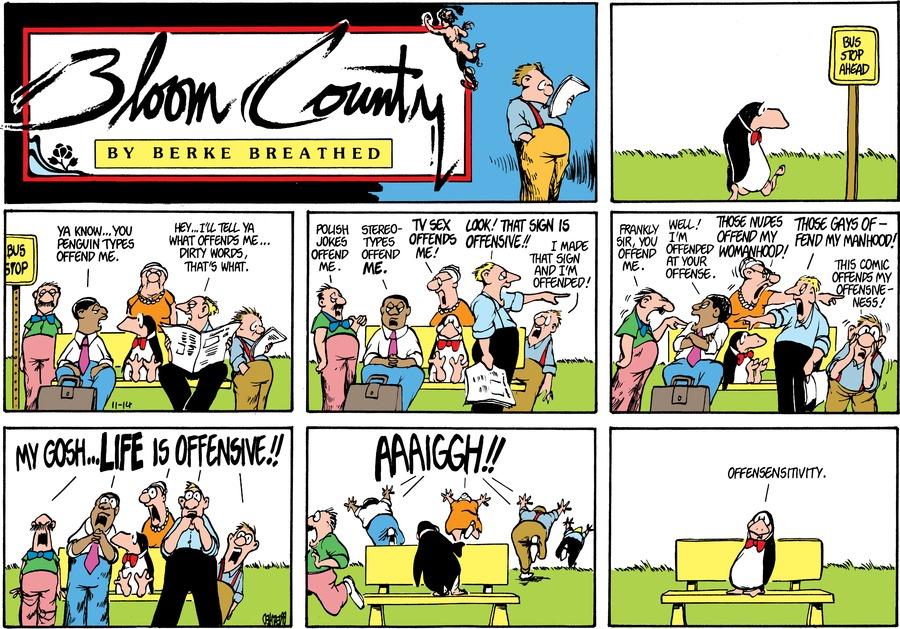 Bloom County Comic Strip for November 14, 1982