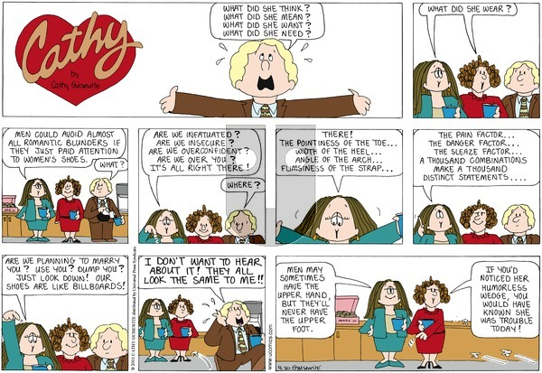 Cathy on Sunday September 30, 2012 Comic Strip