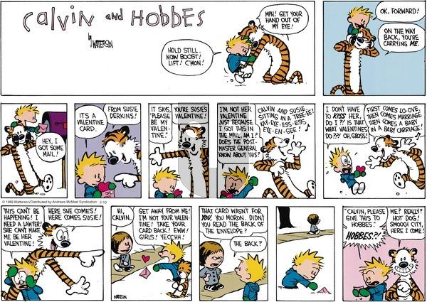 Calvin and Hobbes on Sunday February 10, 2019 Comic Strip