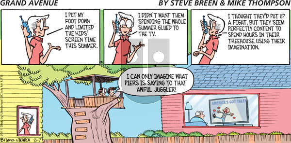 Grand Avenue on Sunday August 7, 2011 Comic Strip