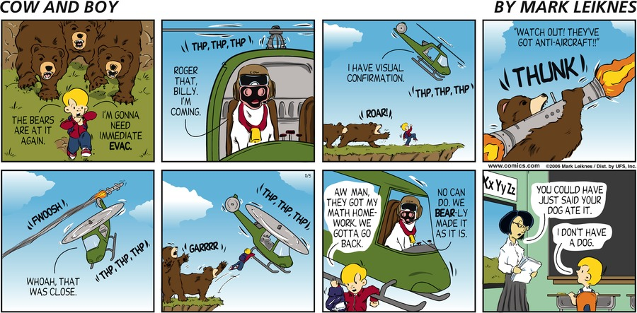Cow and Boy Classics Comic Strip for October 16, 2020