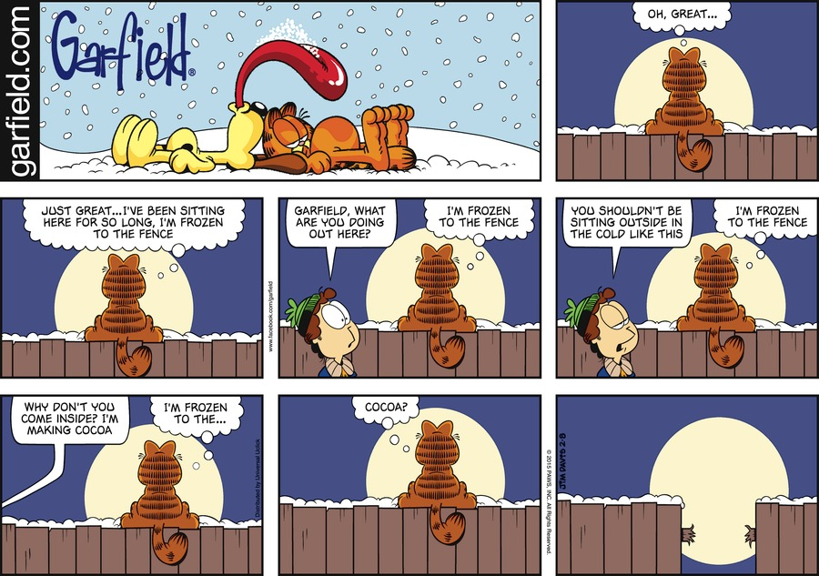 Garfield Comic Strip for February 08, 2015