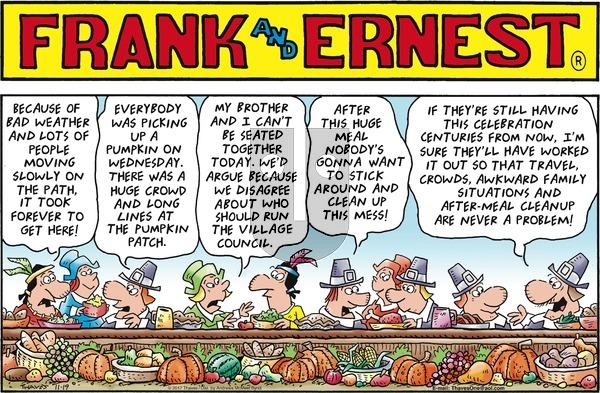 Frank and Ernest on Sunday November 19, 2017 Comic Strip