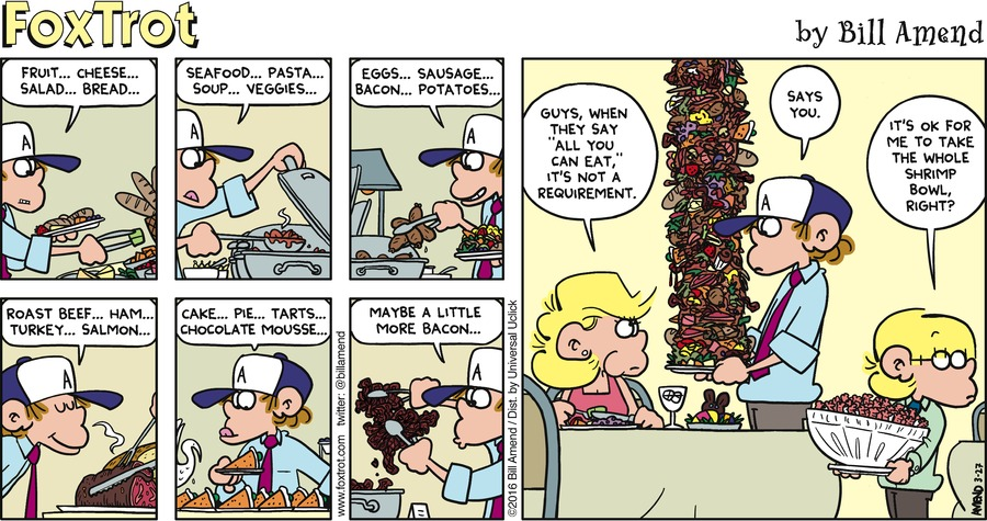 FoxTrot Comic Strip for March 27, 2016