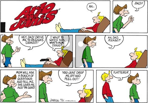 Arlo and Janis on Sunday June 21, 1998 Comic Strip