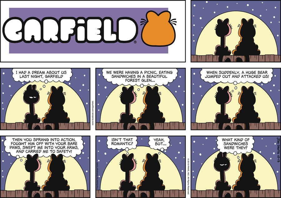 Garfield for Oct 13, 2013 Comic Strip