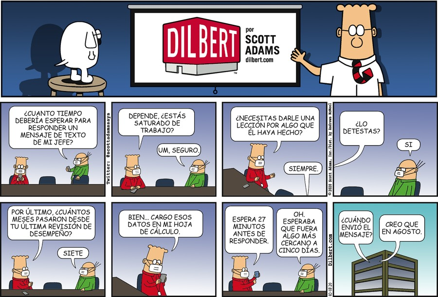 Dilbert en Español Comic Strip for October 18, 2020