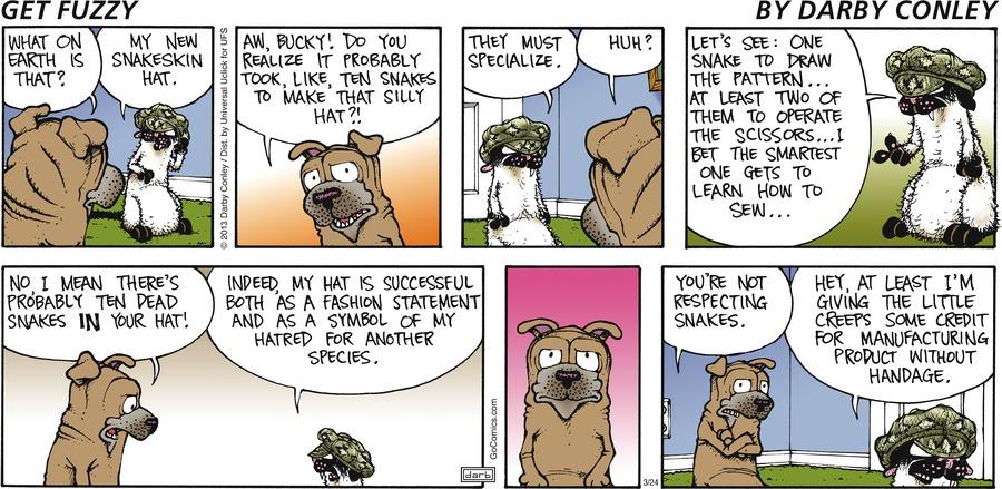 Get Fuzzy for Mar 24, 2013 Comic Strip