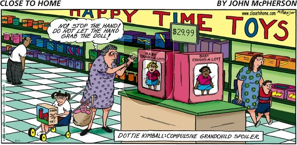 Close to Home on Sunday August 11, 2013 Comic Strip