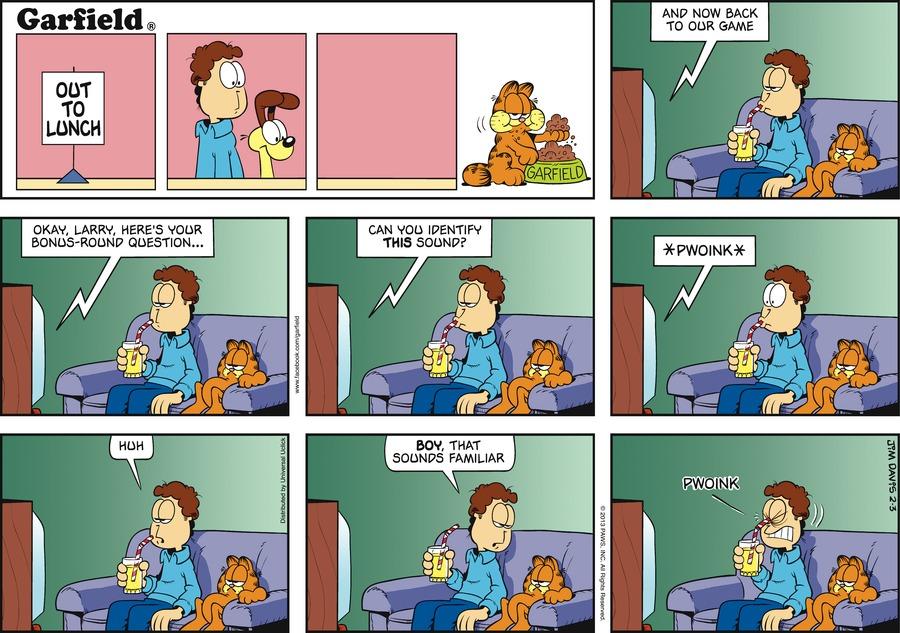 Garfield for Feb 3, 2013 Comic Strip
