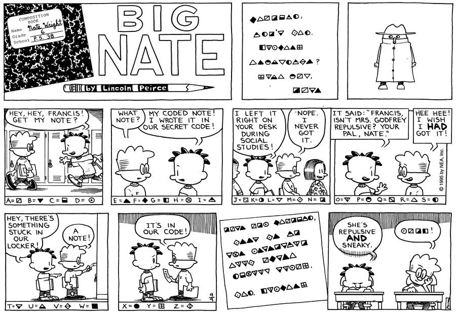 Big Nate Comic Strip for April 09, 1995
