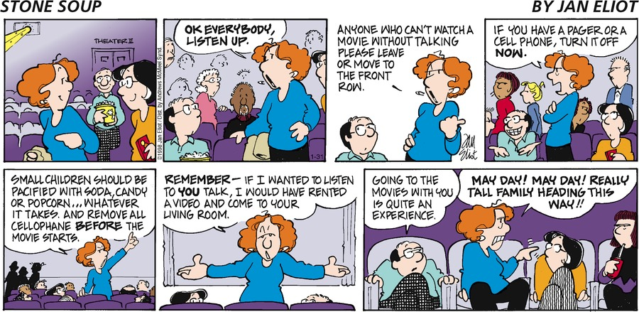 Stone Soup Comic Strip for January 31, 2021