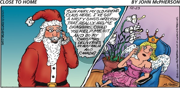 Close to Home on Sunday December 23, 2018 Comic Strip