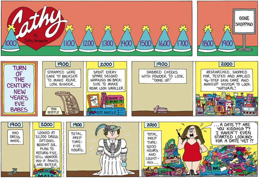 Cathy for Dec 26, 1999 Comic Strip