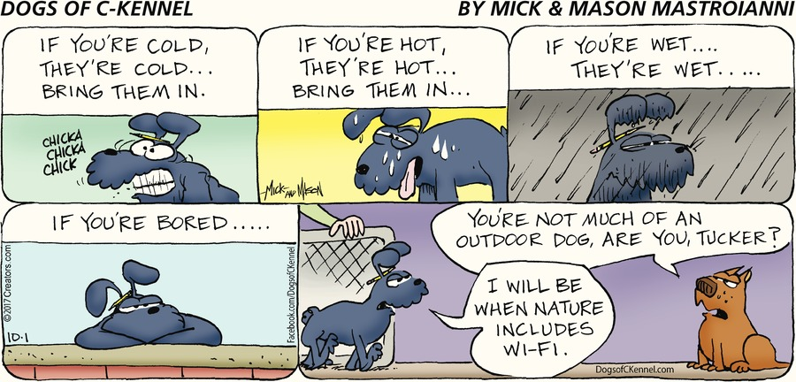 Dogs of C-Kennel for Oct 1, 2017 Comic Strip