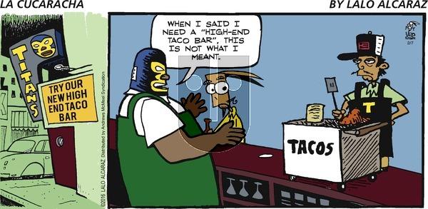 La Cucaracha on Sunday February 7, 2021 Comic Strip