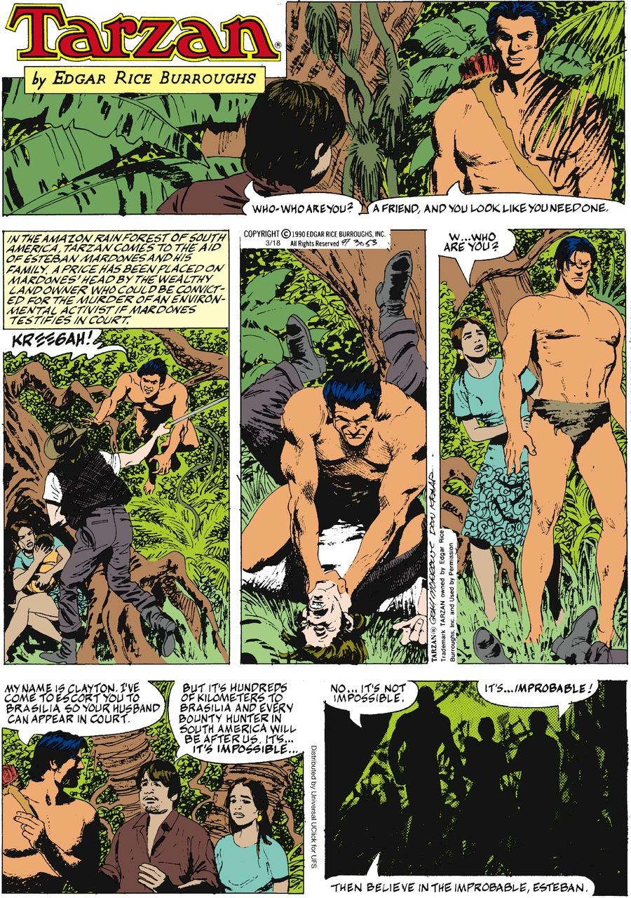 Tarzan Comic Strip for March 18, 2012