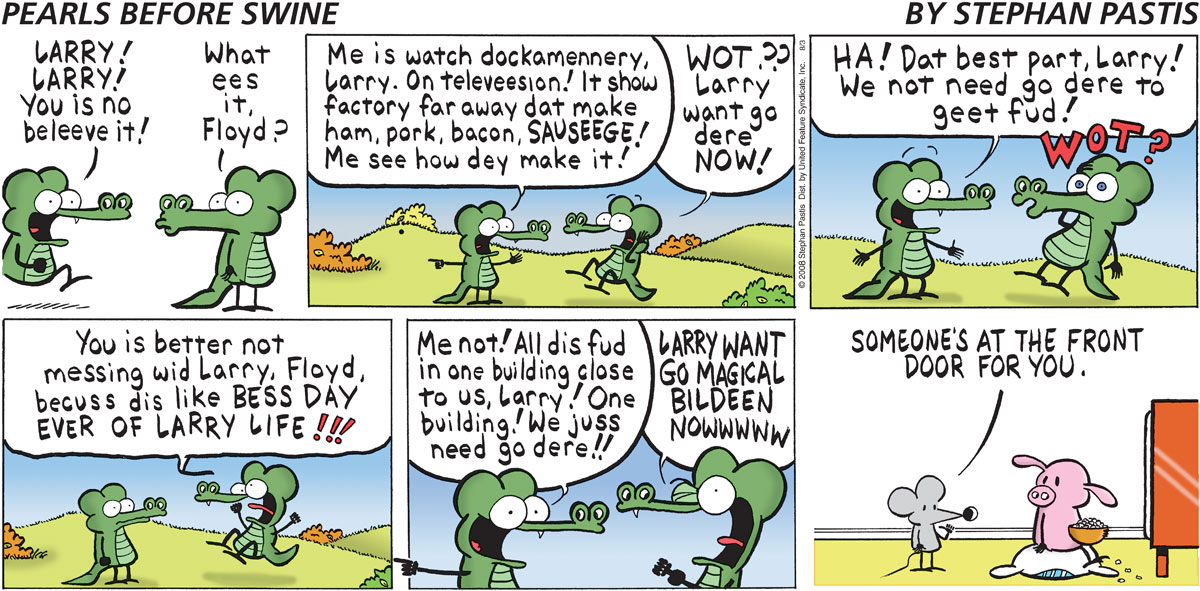 Pearls Before Swine Comic Strip for August 03, 2008