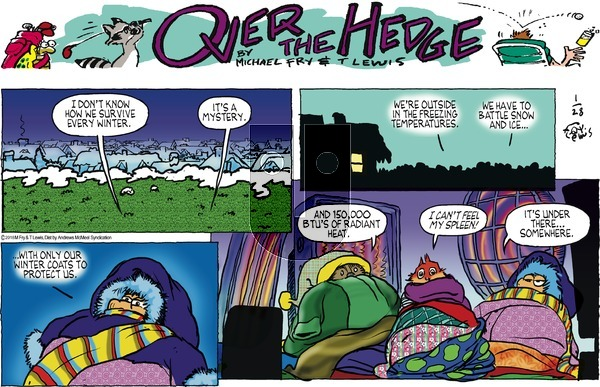 Over the Hedge on Sunday January 28, 2018 Comic Strip