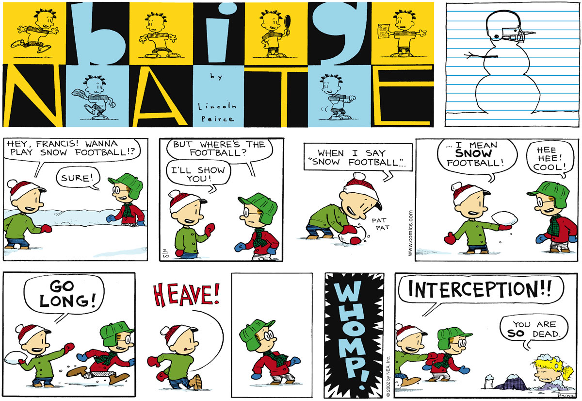 Big Nate Comic Strip for February 10, 2002