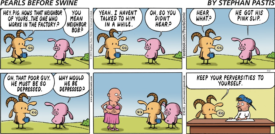 Pearls Before Swine for May 12, 2013 Comic Strip