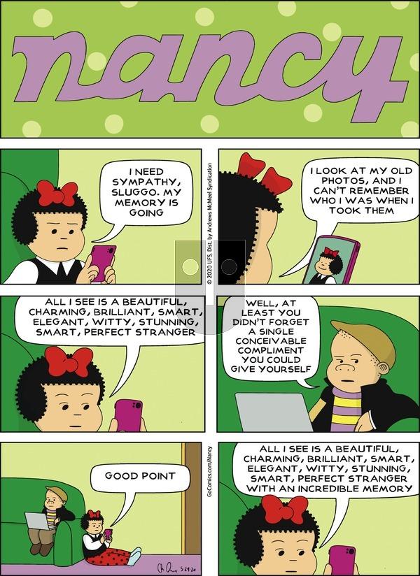 Nancy - Sunday May 24, 2020 Comic Strip