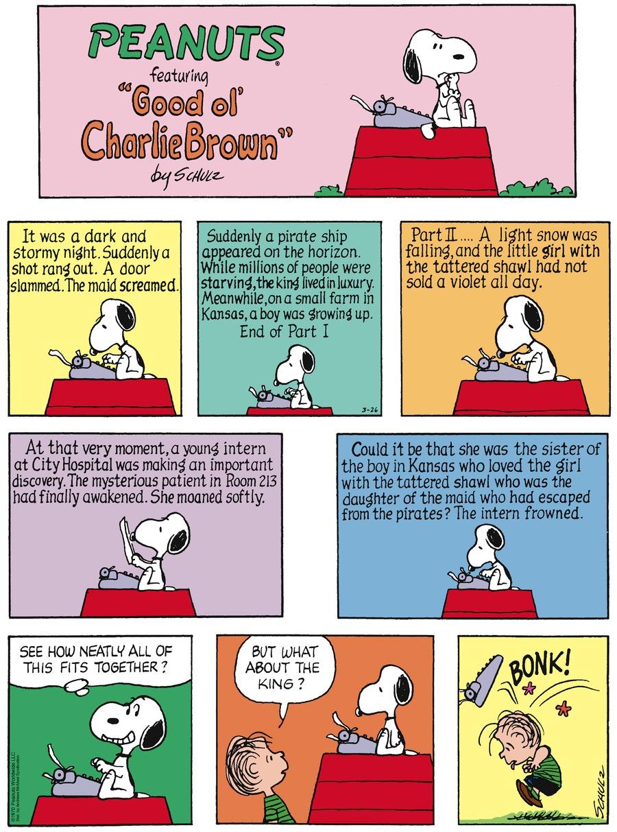 Peanuts Comic Strip for March 26, 2017