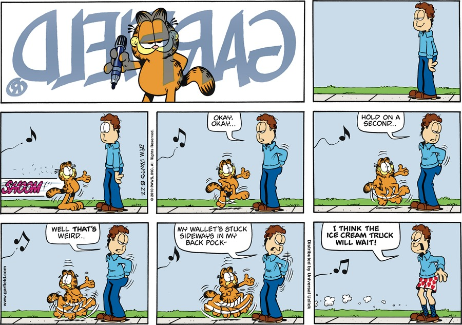 Garfield Comic Strip for August 22, 2010