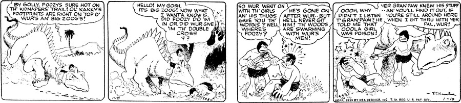 Alley Oop Comic Strip for January 10, 1939