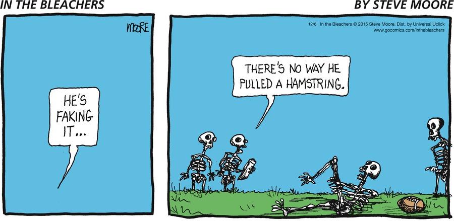 In the Bleachers Comic Strip for December 06, 2015