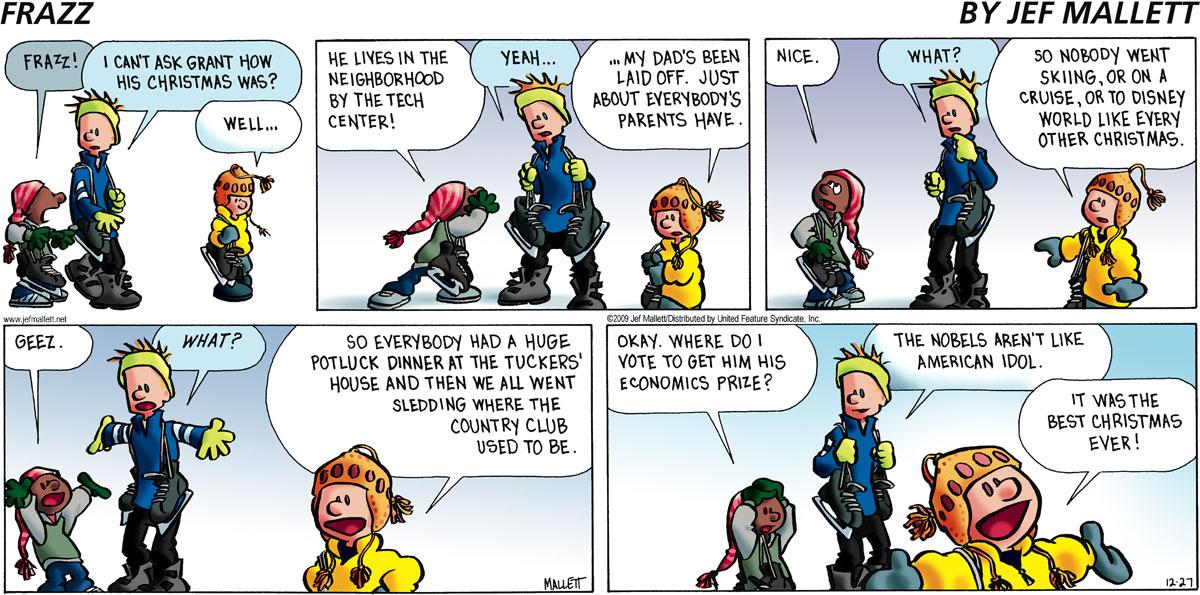 Frazz for Dec 27, 2009 Comic Strip