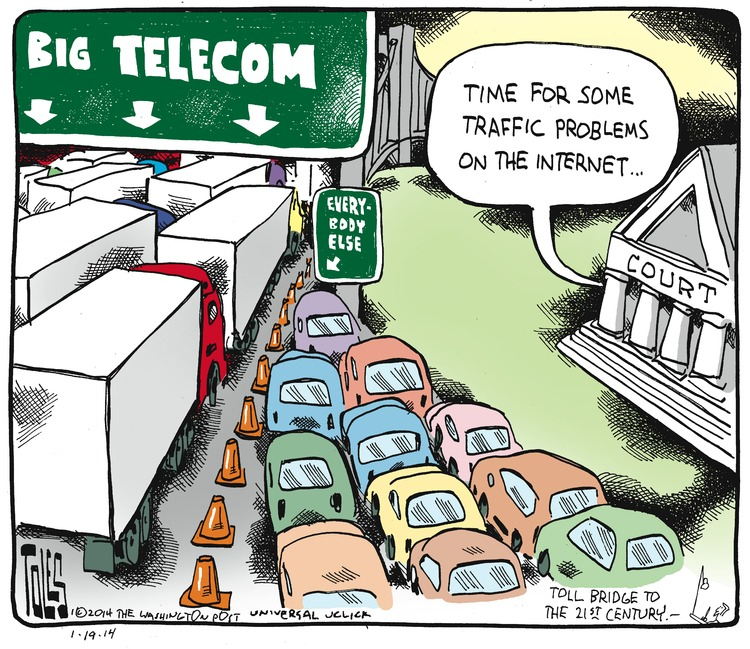Circuit Court: Time for some traffic problems on the Internet.