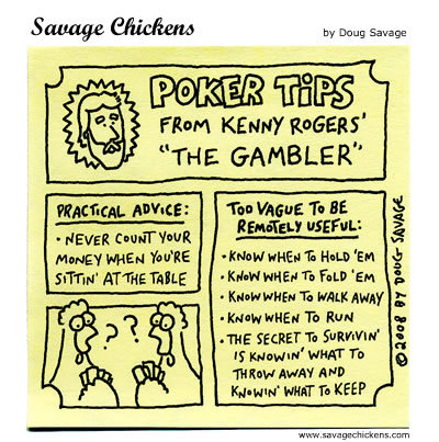 "Poker Tips: From Kenny Rogers' ""The Gambler"" 