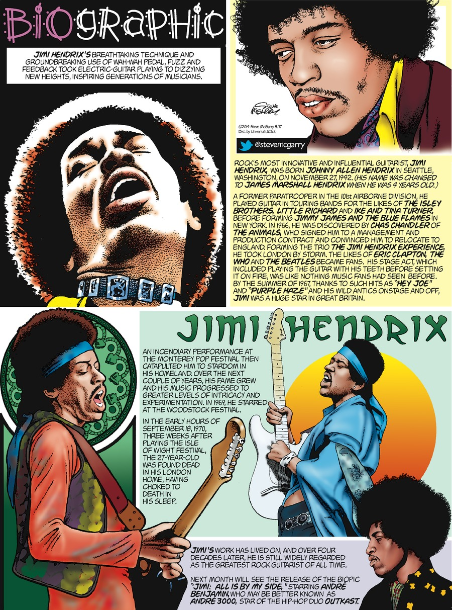 Biographic Comic Strip for August 17, 2014