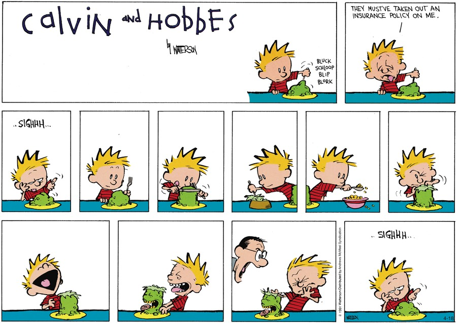 Calvin and Hobbes Comic Strip for April 18, 2021