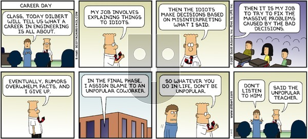 Dilbert - Sunday November 18, 2007 Comic Strip