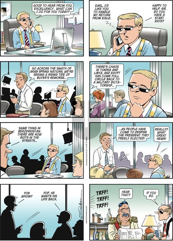 Doonesbury on Sunday October 13, 2013 Comic Strip