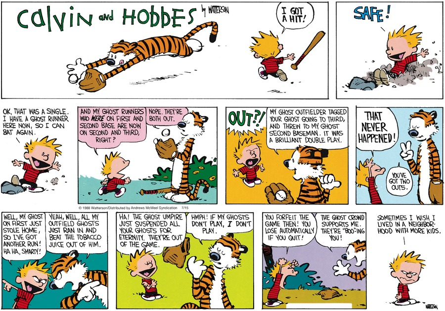 Calvin and Hobbes Comic Strip for July 15, 2018