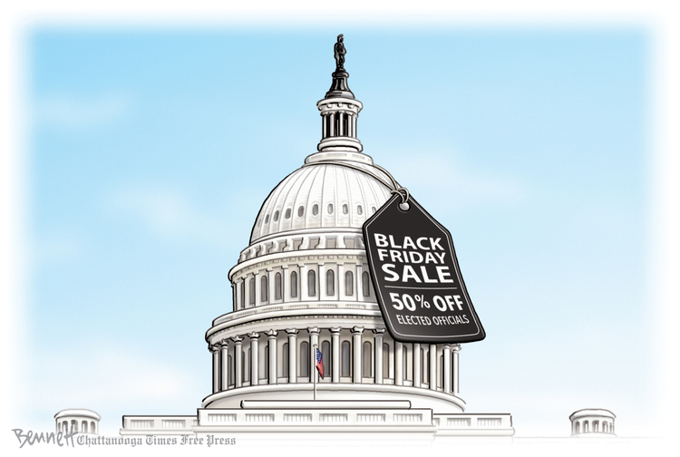 Clay Bennett by Clay Bennett on Fri, 29 Nov 2019