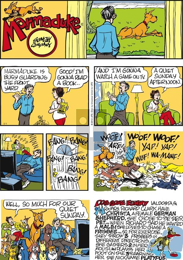 Marmaduke on Sunday May 1, 2016 Comic Strip