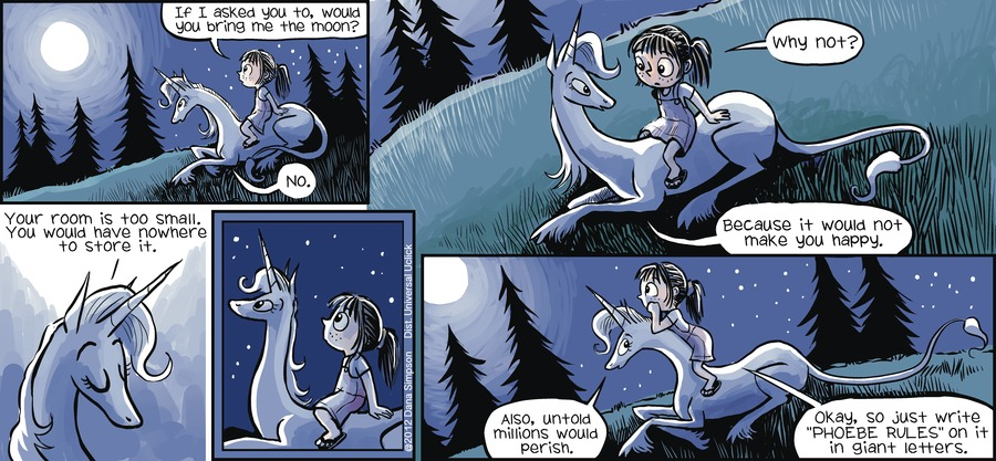Phoebe and Her Unicorn Comic Strip for July 15, 2012
