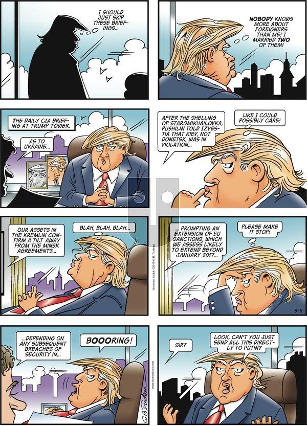 Doonesbury on Sunday September 11, 2016 Comic Strip