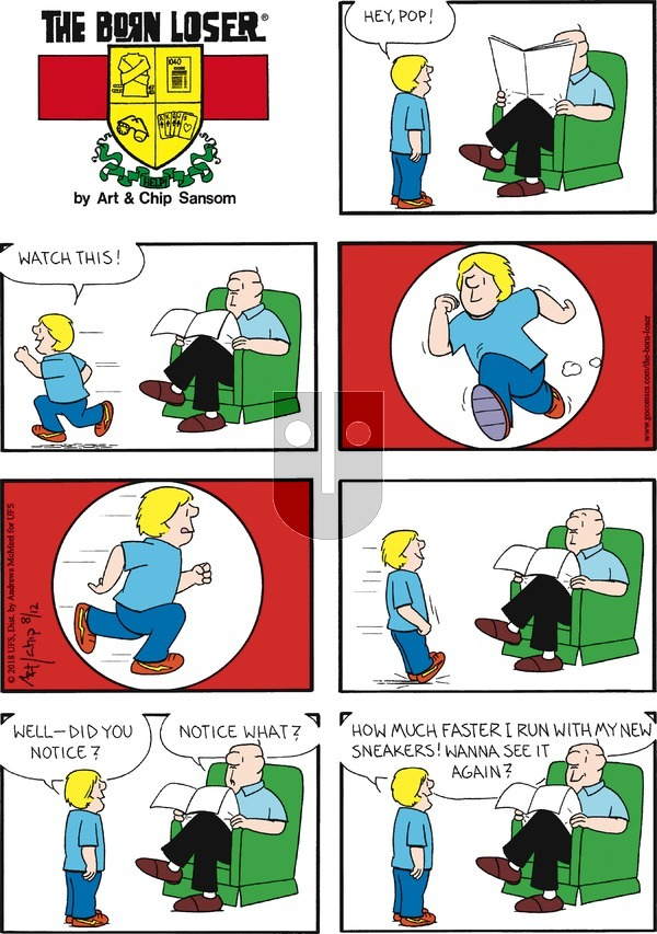 The Born Loser on Sunday August 12, 2018 Comic Strip