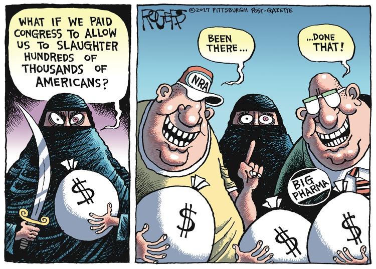 Rob Rogers Comic Strip for October 29, 2017