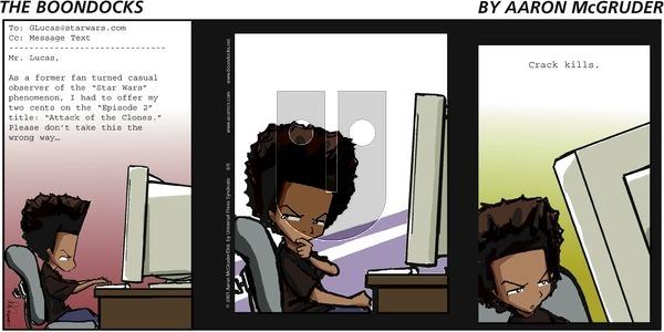 The Boondocks on Sunday September 9, 2001 Comic Strip